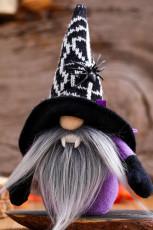 Sort Halloween plys ansigtsløs dukke dekoration