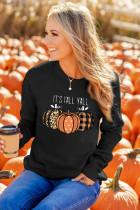 Halloween Pumpkins Grafik Mürettebat Yaka Sweatshirt