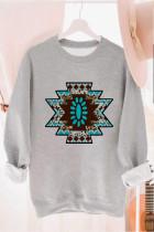 Aztec Tribal Pattern Harmaa pusero