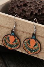 Halloween græskar ansigt kostume indretning øreringe