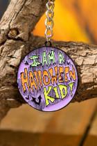 I AM A Halloween KID Slogan Coin Pendant Keychain