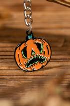 Halloween Pumpkin Face nøglering