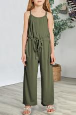 Grön spaghettistropp med brett ben för flickor