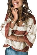 Πουλόβερ πουλόβερ με μανίκια με πλεκτό φανελάκι Color Block