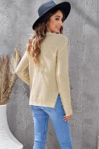 Πλεκτό πουλόβερ με κουμπιά στο πλάι