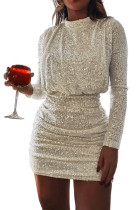 Paljetti Ruched Party Bodycon Mini -mekko