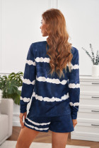 Sininen solmimalla Stripes pitkähihaiset shortsit