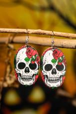 Halloween Sugar Skull PU øreringe