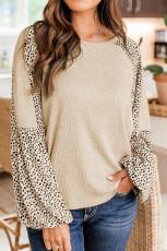 Pullover con stampa leopardata