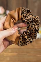 PU-Leder-Patchwork-Haargummi mit Leopardenmuster