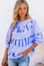Långärmad tröja med tryck i färg