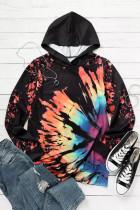Reverse Tie Dye Rainbow Hoodie