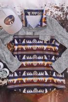 Φούτερ τσέπης Aztec Geometric Zipper Collar Fake