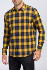 Gul skjorta med knappar