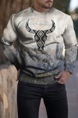Erkek Buffalo Batik Baskılı Sweatshirt