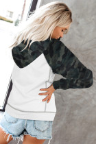 Vit Camo Sleeve Patchwork Pullover Women's Hoodie