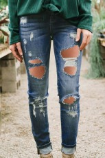 Ripped Distressed Skinny Jeans