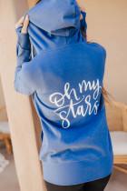 Oh My Stars grafisk jacka med full dragkedja