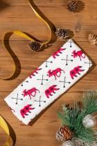 Weihnachtskariertes Haarband mit Animal-Print