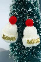 Christmas LOVE Gestrickte Ohrringe