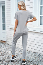 Harmaa Cozy Cotton T-paita Housusetti