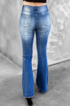 Distressed Flare Jeans mit hoher Taille