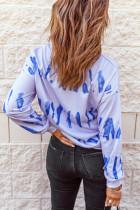 Felpa a maniche lunghe con stampa tie-dyed