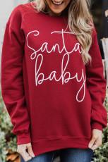 Sweatshirt mit Weihnachtsmann-Baby-Print
