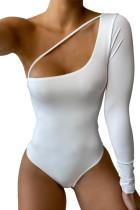 Body bianco cut-out monospalla