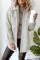 Cappotto tinta unita con colletto rovesciato e abbottonatura con tasca