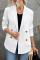 Weißer Blazer mit Umlegekragenknöpfen und Taschen