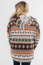 Plus Size Reindeer Print -huppari