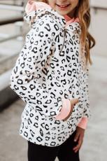 Asymmetrischer Reißverschluss Leopard Kinder Hoodie