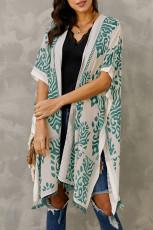 Green Prowess Pom Pom Kimono