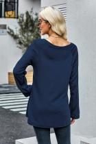 Top tunica in maglia blu