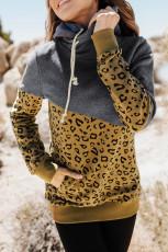 Leopardo Colorblock com capuz e capuz