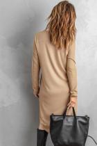 Khaki Selected - Hochwertige Strickjacke mit geknöpften Taschen