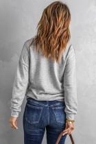 Sweatshirt mit gestepptem Patch und halbem Reißverschluss