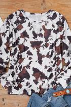 Camicetta manica lunga collo buco della serratura mucca