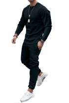 Set di felpe con cappuccio da uomo nere