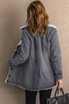 Harmaa rintamerkki Fleece -takki