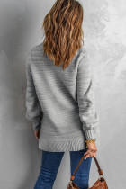 Γκρι μονόχρωμη βάση γιακά με υφή πουλόβερ