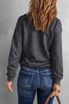Grijs sweatshirt met doorgestikte patch en halve rits