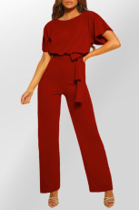 Tuta a gamba larga con cintura Red Oh So Glam