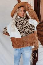Leopardiväri Block Buttons Corduroy -takki