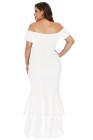 Vestido de sirena blanco My Everything Plus Size