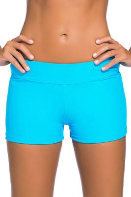 Badeanzug-Shorts mit saurem, blauem Bund und weitem Bund