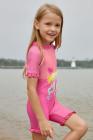 الوردي ليتل ميرميد الأميرة لطيف الفتيات ملابس السباحة