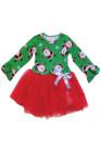 أخضر أحمر سانتا ندفة الثلج طباعة اللباس عيد الميلاد طفل