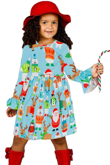 صديق عطلة عيد الميلاد فتاة صغيرة اللباس